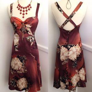 Roberto Cavalli Just Cavalli Floral Silk Dress